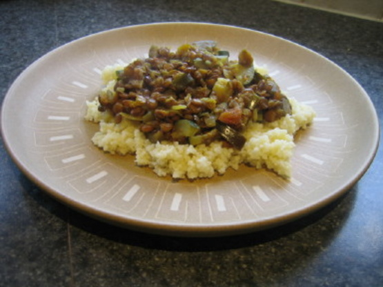 Lentils With Eggplant
